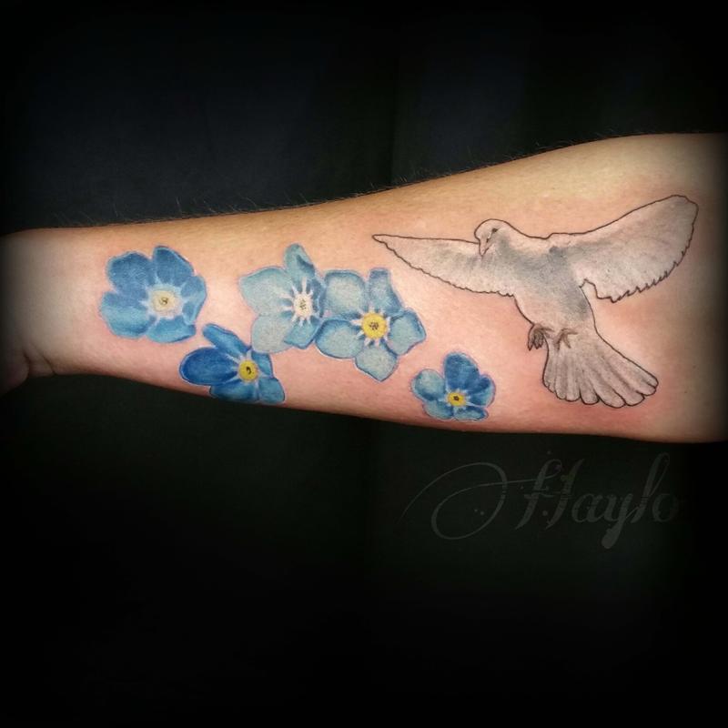 Lucky Bamboo Tattoo : Tattoos : Realistic : Realistic Dove