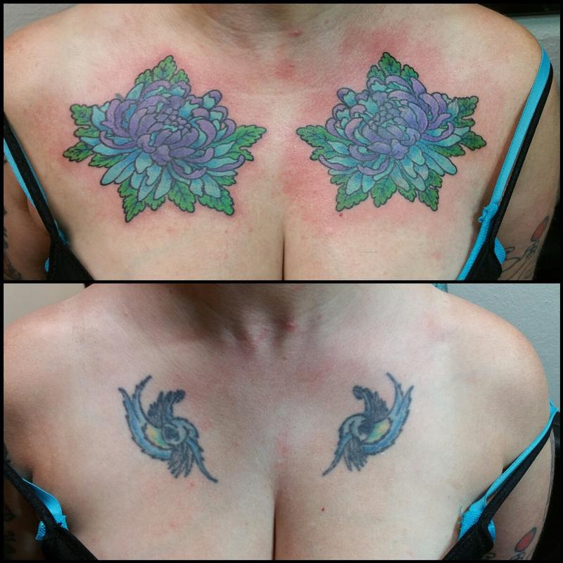 526630ec0 Rebel Muse Tattoo : Tattoos : Back and Chest : Lotus Flower Cover Up