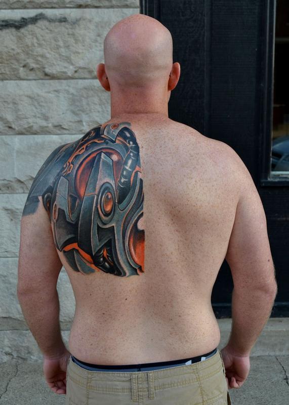 e4e2d0ead 9 Dot Studio : Tattoos : Misc : Biomechanical Back 1