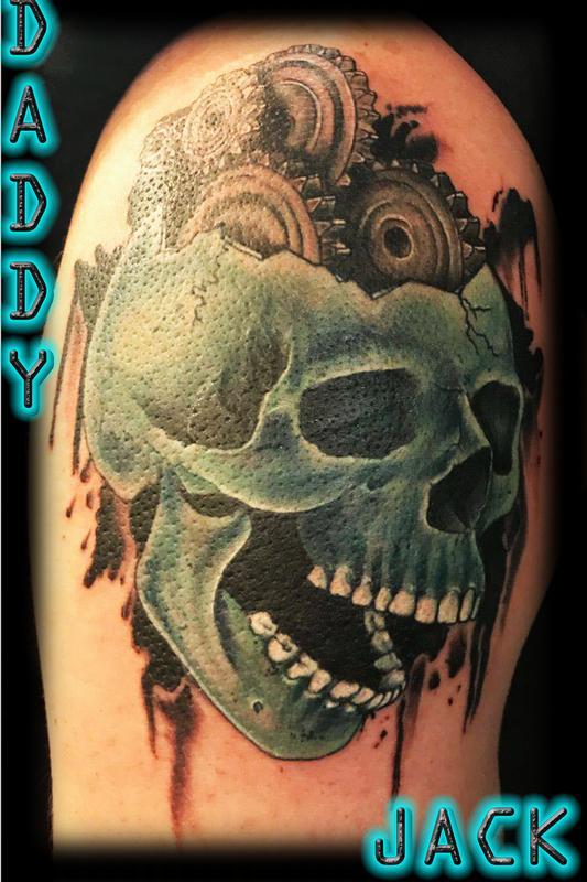 Gear Head By Daddy Jack Tattoos