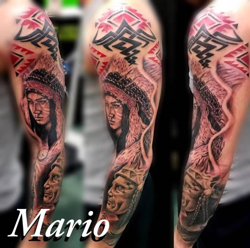 655b5dd5e Daddy Jacks Body Art Studio : Tattoos : Mario Padilla : Native ...