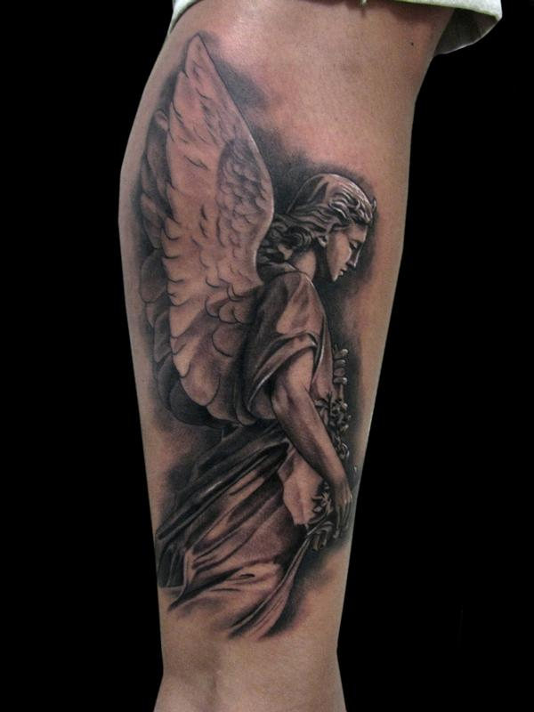 ANGEL STATUE by Jhon Gutti : Tattoos