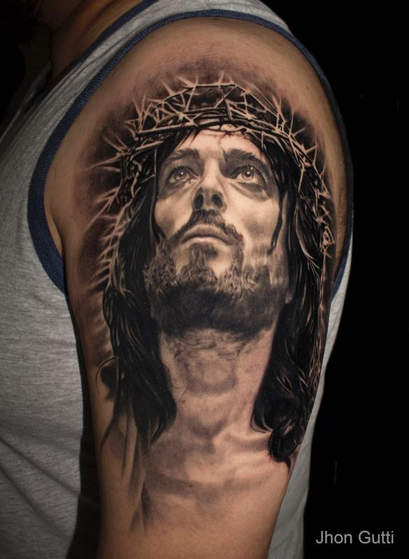 JESUS PORTRAIT by Jhon Gutti : Tattoos