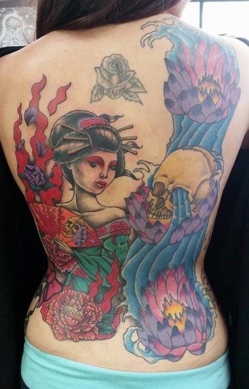 a6b0b7518 Jesse Neumann @ Alternative Arts Tattoo : Tattoos : Skull : Geisha ...