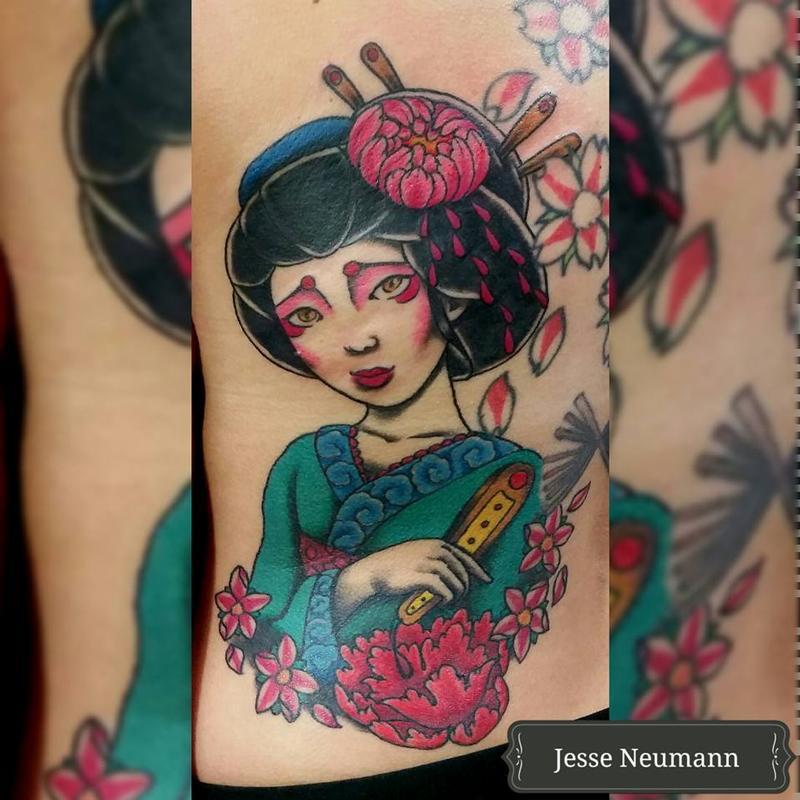 637e410a1 Jesse Neumann @ Alternative Arts Tattoo : Tattoos : Color : Geisha ...