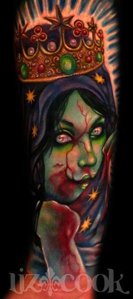 6373ce620 Rebel Muse Tattoo : Tattoos : Original Art : Virgen De Guadalupe-Zombie  style