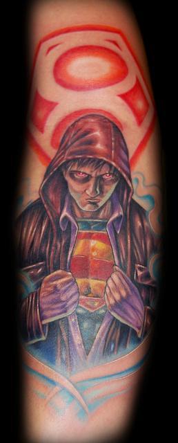 Art by Marvin Silva : Tattoos : New School : Superman Tattoo