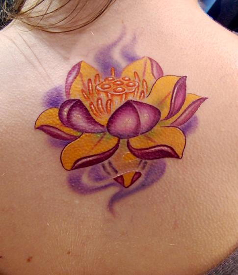 Art By Marvin Silva Tattoos Color Lotus Flower Tattoo