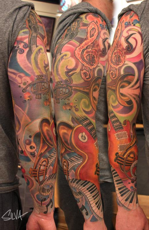 Art by Marvin Silva  Tattoos  Abstract  Custom Music