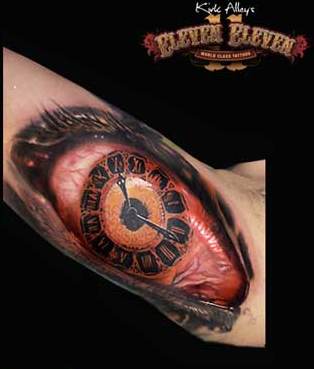 tattoos/ - Realistic Eye/Clock Tattoo - 66114
