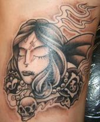 tattoos/ - Custom girl face tattoo - 49314