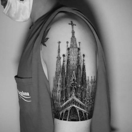 tattoos/ - Sagrida Familia Church Tattoo - 143123