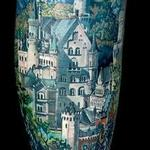 Neuschwanstein Castle Tattoo Design Thumbnail