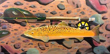 Art Galleries - Trout Painting - 106347
