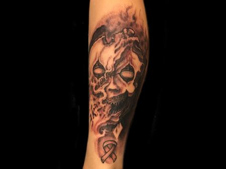 tattoos/ - The face of cancer.  - 129300