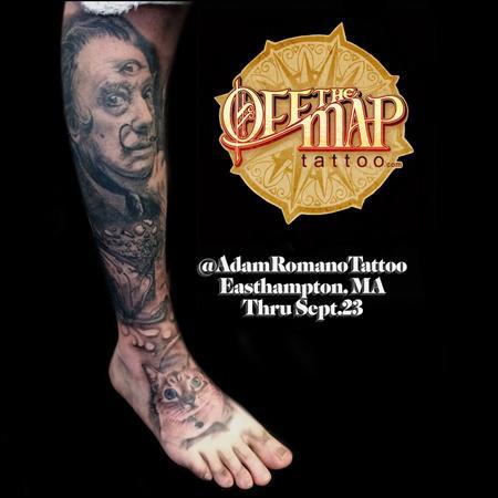 tattoos/ - Salvador Dali and Surrealism leg sleeve  - 130123