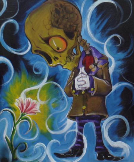 Art Galleries - fun skully dude acrylic - 62501