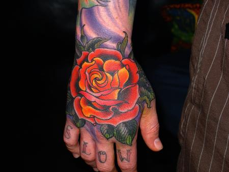 tattoos/ - new school rose - 68780