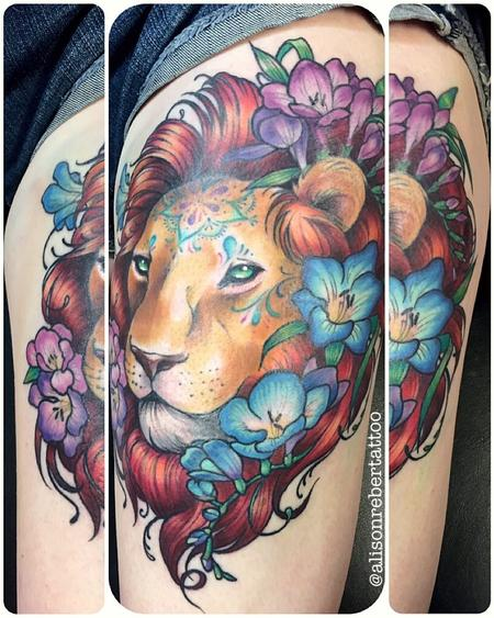 tattoos/ - Lion Tattoo - 127770