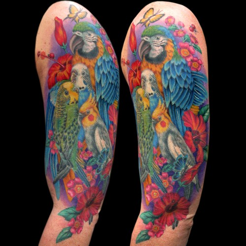 tattoos/ - Exotic Birds Tattoo - 49844