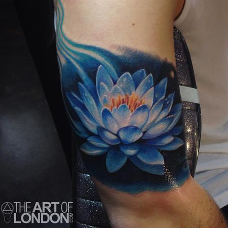 tattoos/ - Blue Lotus Flower Tattoo - 93987