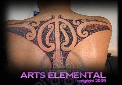 tattoos/ - Ta moko back - 49569