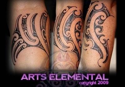 tattoos/ - Ta moko leg - 49571