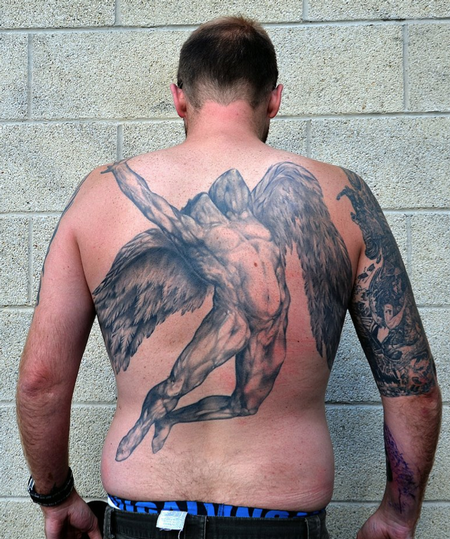 tattoos/ - Martin's back piece William Rimmer's Evening , Fall of Day - 63624
