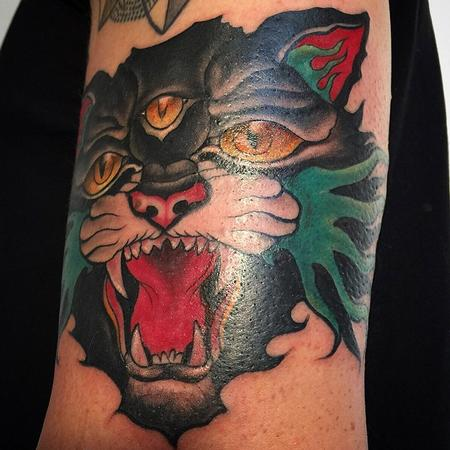 tattoos/ - Traditional stylized three eyed Cat - 104213