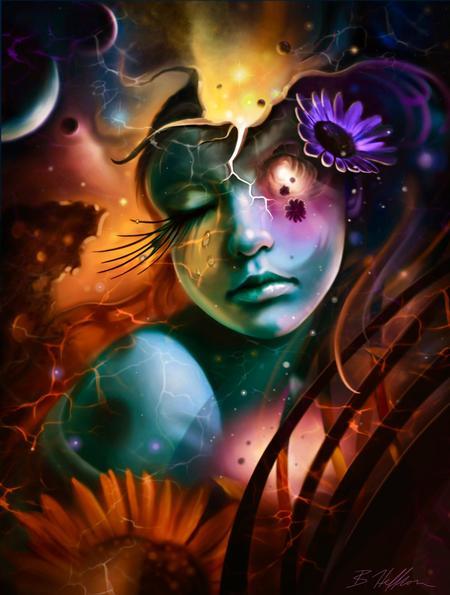 Art Galleries - Celestial Sunflower - 133711