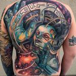 Space Babe Tattoo Design Thumbnail