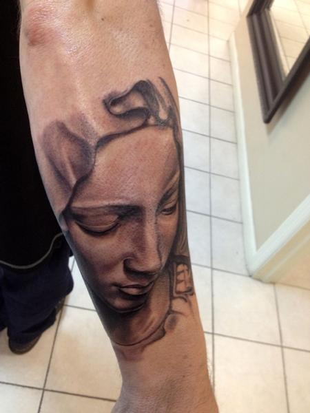 tattoos/ - Pieta....start of a sleeve - 69495