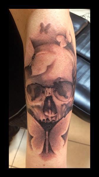 tattoos/ - Skull and Butterflies - 69499