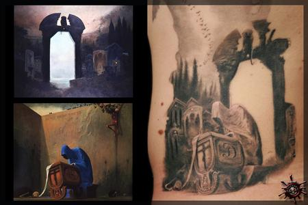 tattoos/ - Bottom merge from two reference paintings, Initial on the side of the Cradle: D.  - 59056
