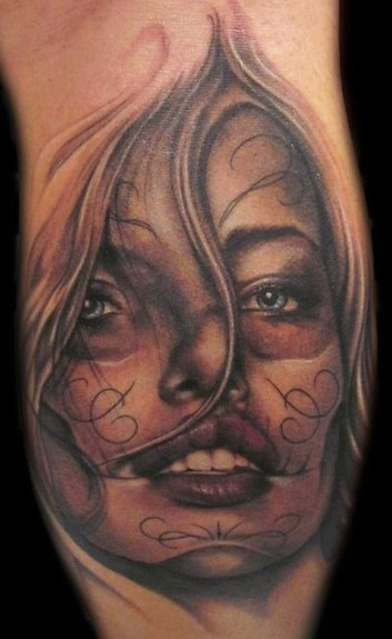 tattoos/ - Day of the Dead Girl Tattoo - 52950
