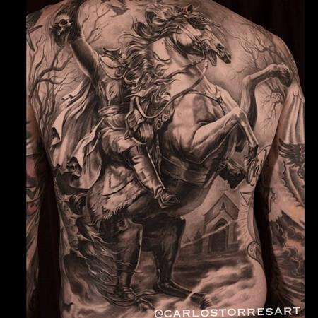 tattoos/ - Headless Horseman Back Tattoo - 92221
