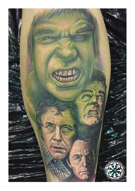 tattoos/ - Classic Hulk color portrait - 122471