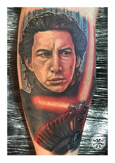 tattoos/ - Kylo Ren color portrait - 122542