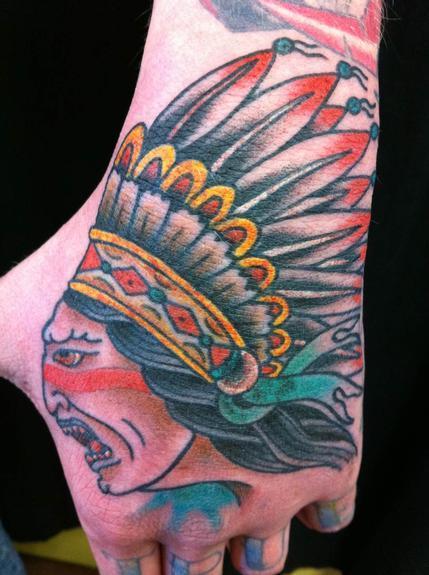 tattoos/ - Indian head hand tattoo - 53286