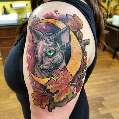 tattoos/ - Cat moon tattoo - 133104