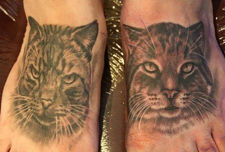tattoos/ - Black and Gray Cats - 67665
