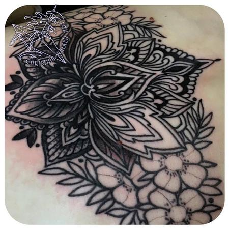 tattoos/ - Photo of underboob/upper stomach piece before completed - 137304