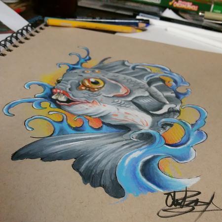 Art Galleries - Fish Drawing - 101169