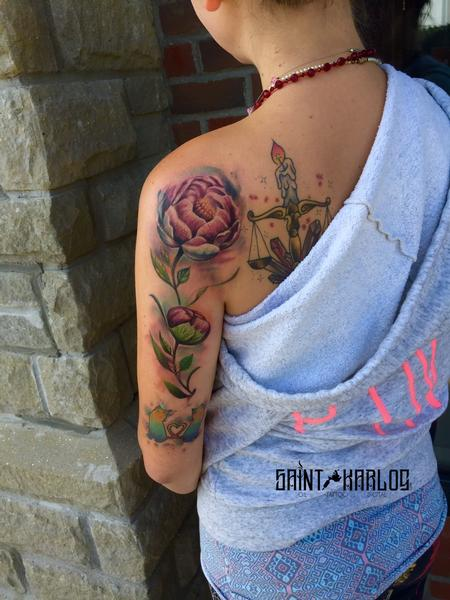 tattoos/ - watercolor flower - 129946