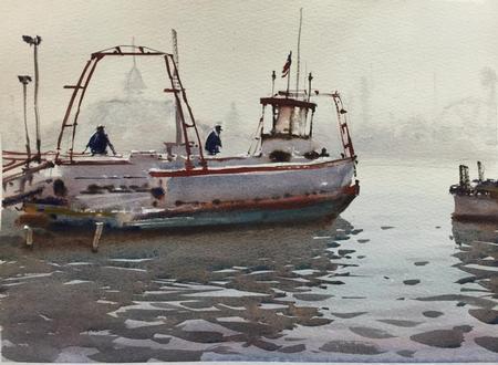 Art Galleries - Balboa Ferry Fog - 99362