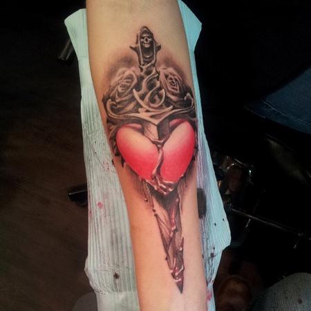 tattoos/ - Heart Dagger - 99370