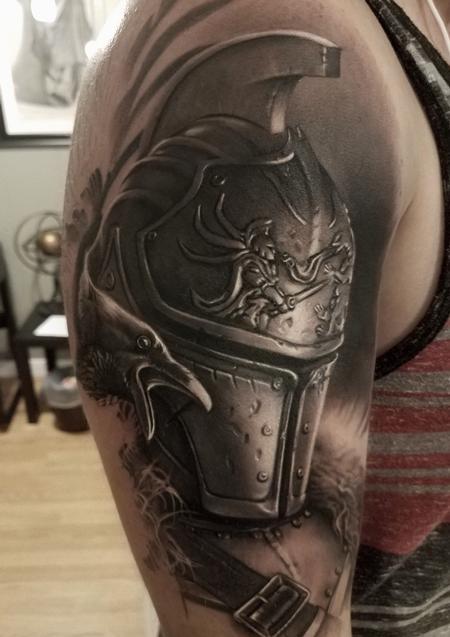 tattoos/ - David Vega Armor and Crow - 131078