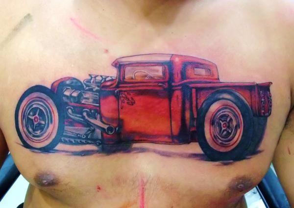 tattoos/ - Old school truck tattoo - 49582