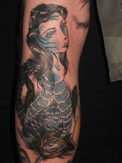 tattoos/ - Snake Leg Tattoo - 52006
