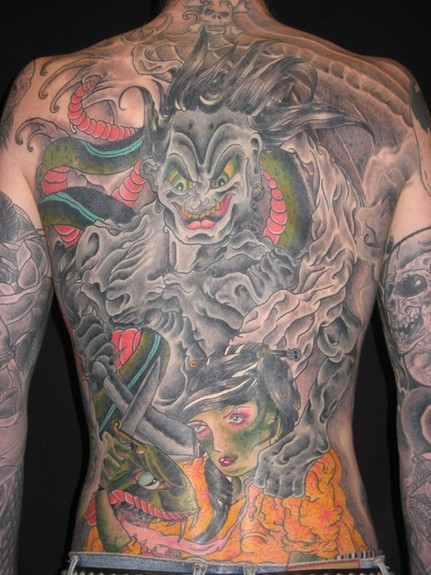 tattoos/ - Asian inspired snake back piece - 52007